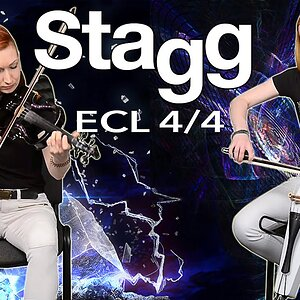 Электровиолончель STAGG ECL 4/4 (Red Hot Chili Peppers Californation cello cover)